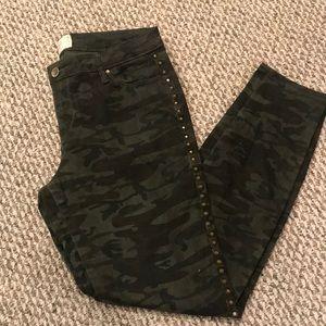 Studded Army Skinny Jeans